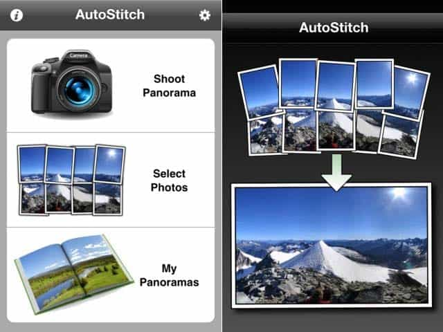 Autostich application panorama