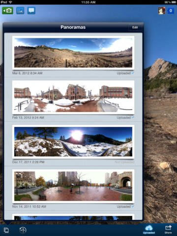 Application panorama 360 ipad