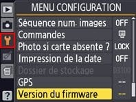 Version du firmware