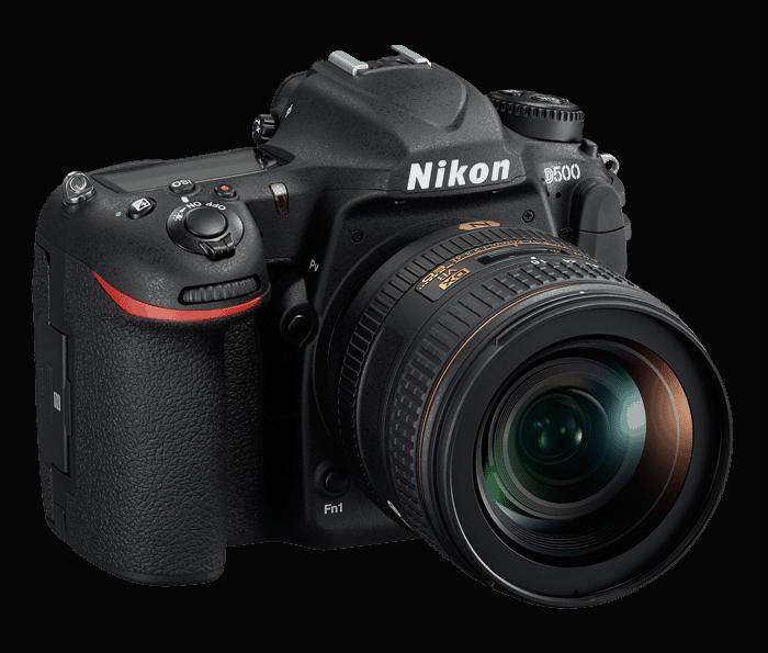 Nikon D500 vue gauche