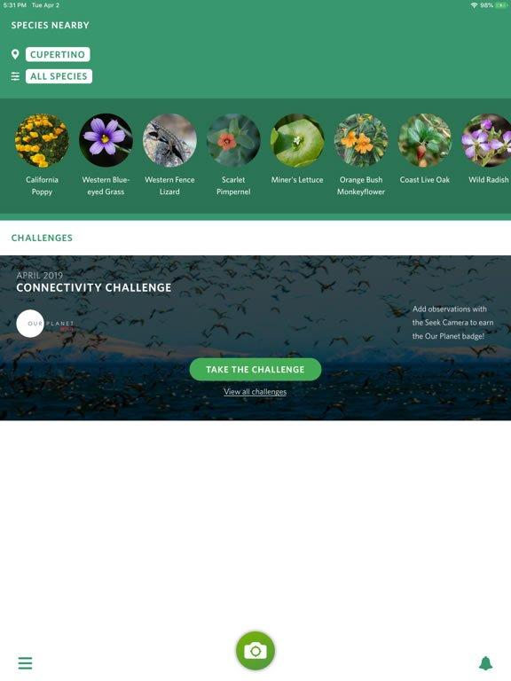 iNaturalist sur tablette