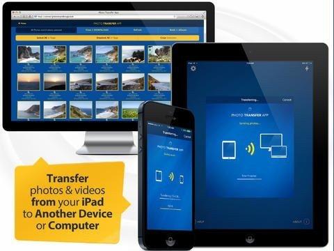 Applications PhotoSync et PhotoTranser